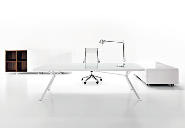 Foldable Steel White Leg Stone Top Office Desks For Sale