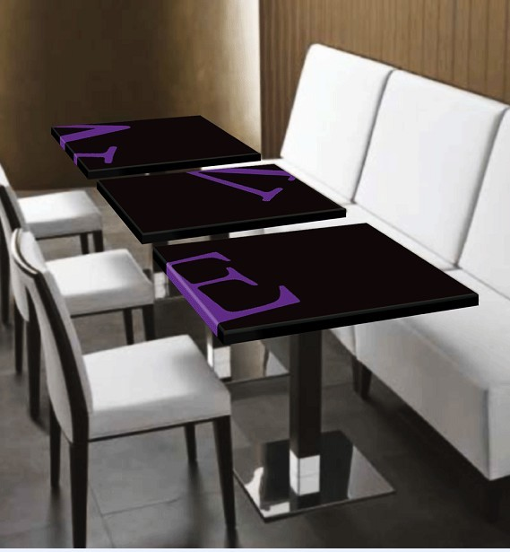 Custom Logo Print Corian Stone Modern Restaurant Table Sale - Corian restaurant table tops