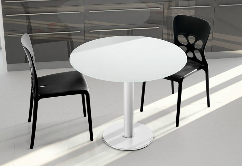 Round Artificial Marble Restaurant Dining Table For Sale