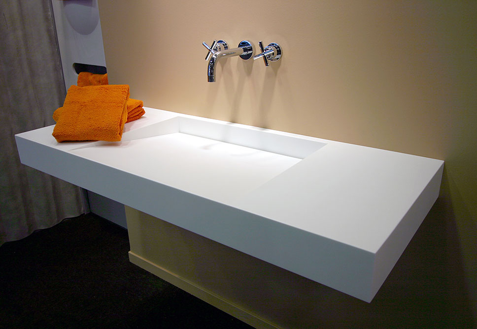 Newest White Corian  Marble Washbasin