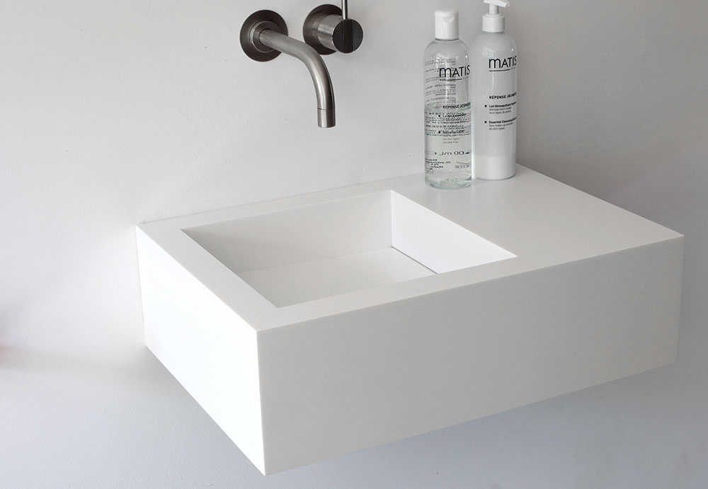 Home Tolit Bathroom Artificial Marble White Utility Sink