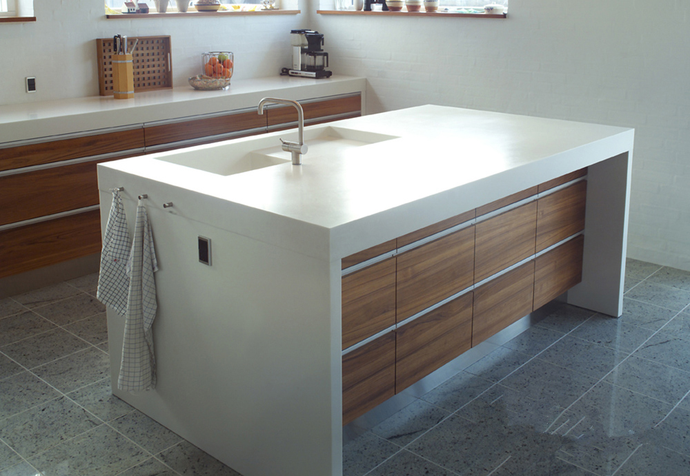White Health Material Solid Surface Home Kitchen Counter