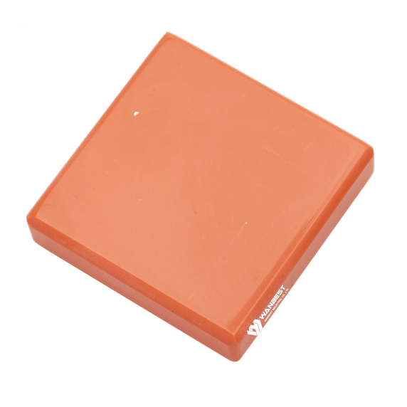 Orange Red Artificial Solid Surface Stone