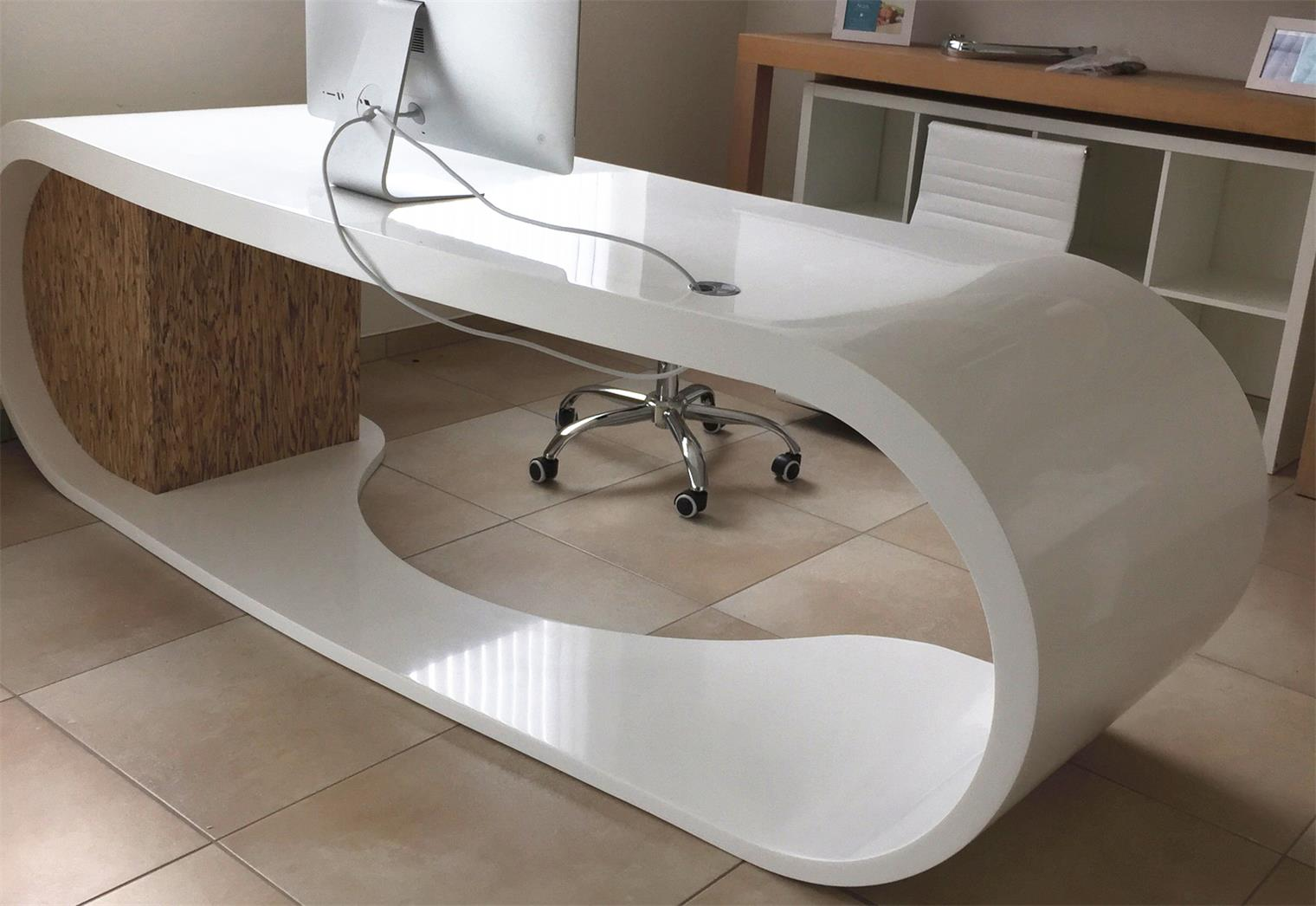 solid surface manager office desk
