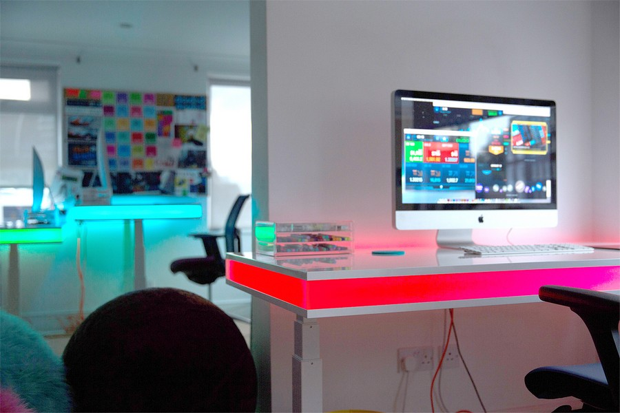 Bureau led led bureau led pour bureau gamer best desk perfect