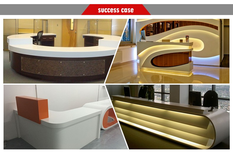 semi-circle reception desk