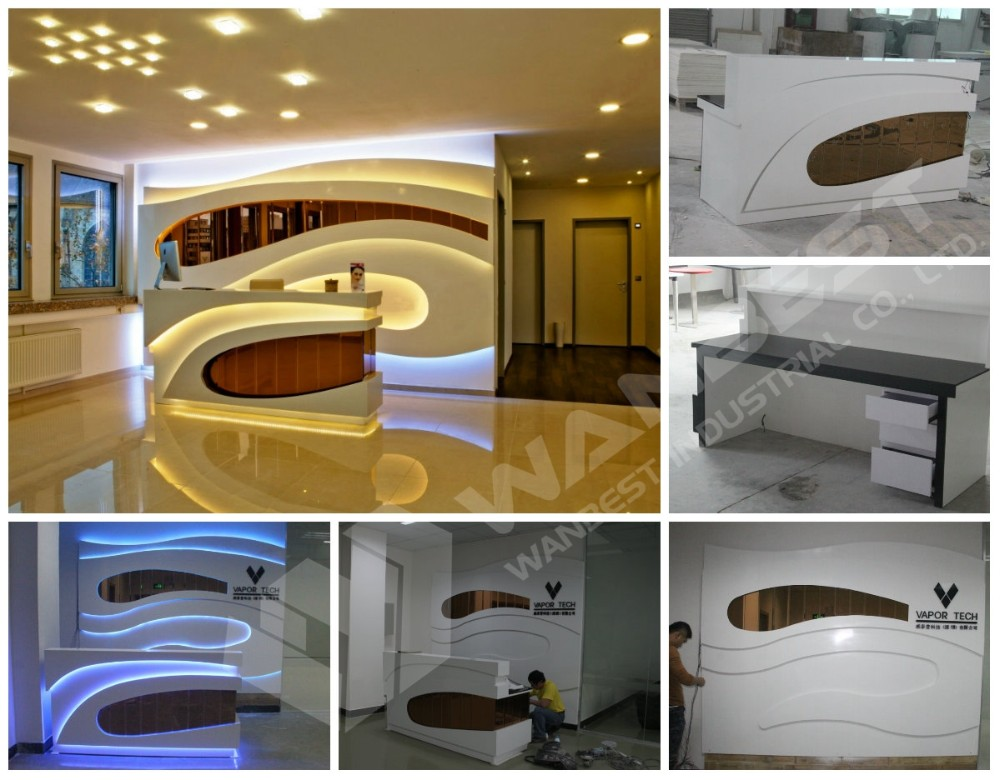Company artificial stone reception desk