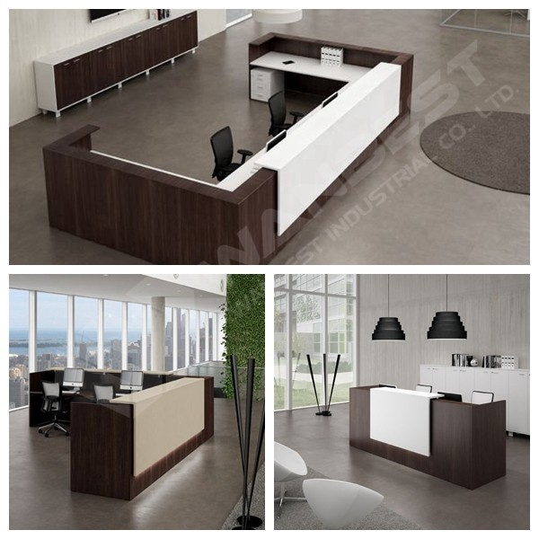 half circle reception desk