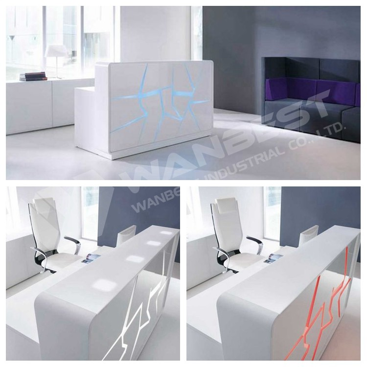 Beautiful LED lighting reception desk