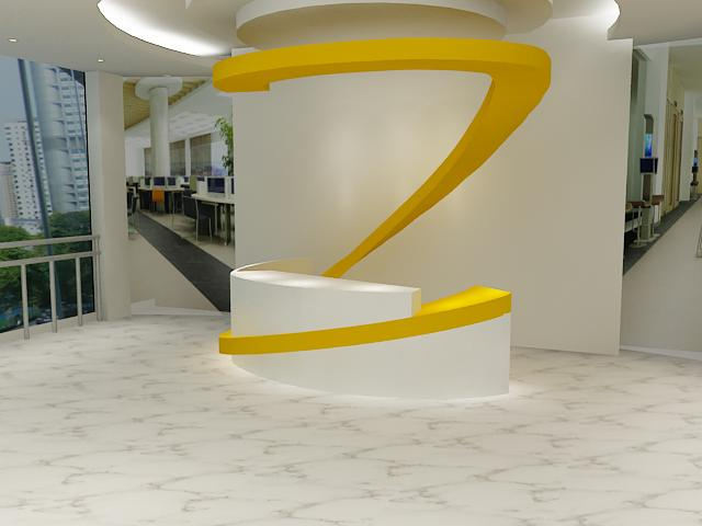 unique reception desk