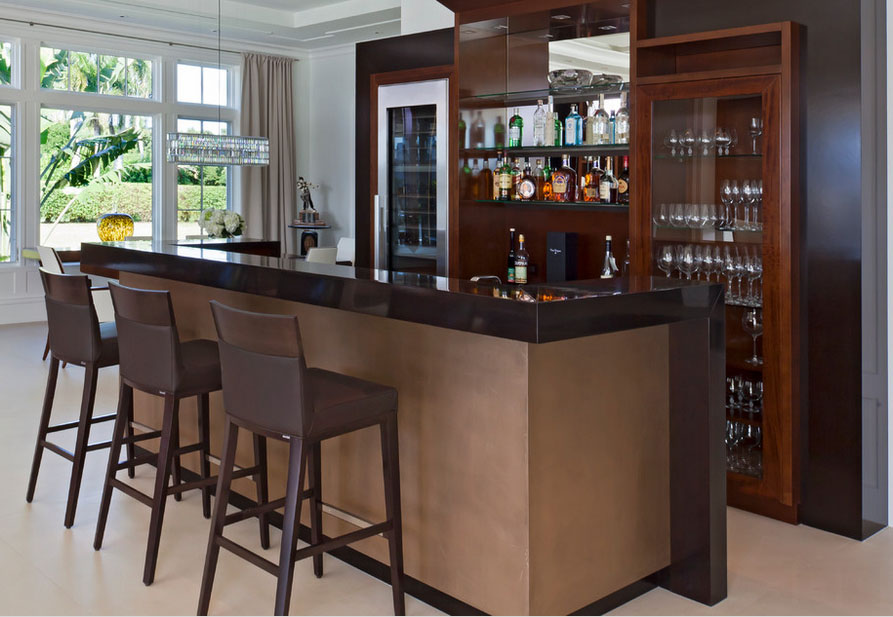 home bar counter brown color small size furniture