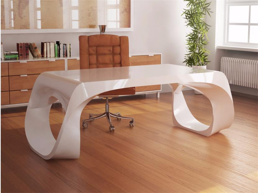 Black unique design office manager desk for sale