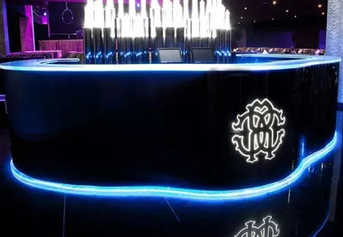 Led Lighting Decoration Bar Counter Designer Custom Design with logo
