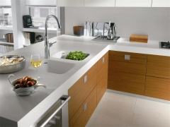 American style kitchen counter marble top