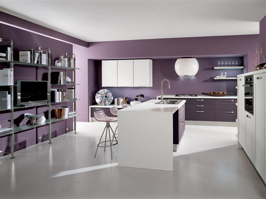 Mini kitchen counter new design with small island