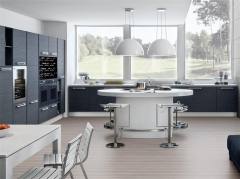 Straight design kitchen counter with island for sale