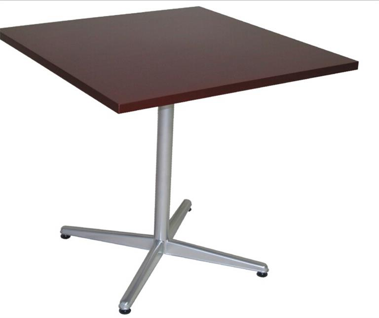 Square dining table for fast food restaurant