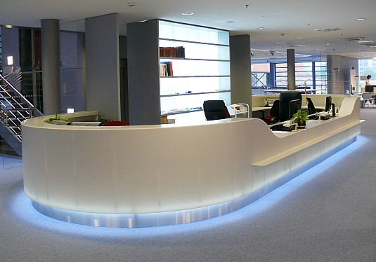 Luxury long u shape reception counter