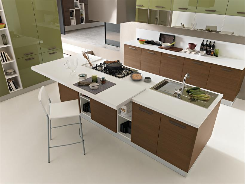 Open kitchen island with multi-functional cabinet for sale