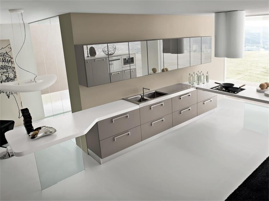 American style modern design kitchen counter for home using