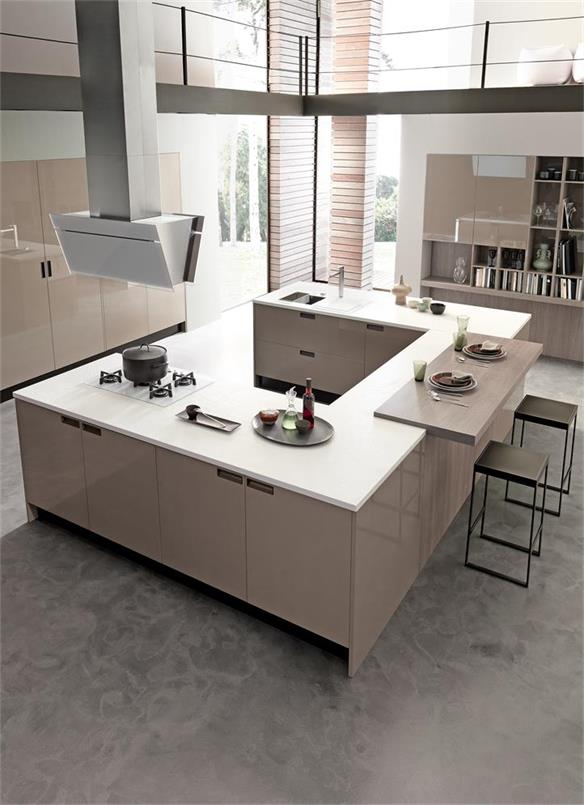 Open kitchen square shape kitchen counter for home using