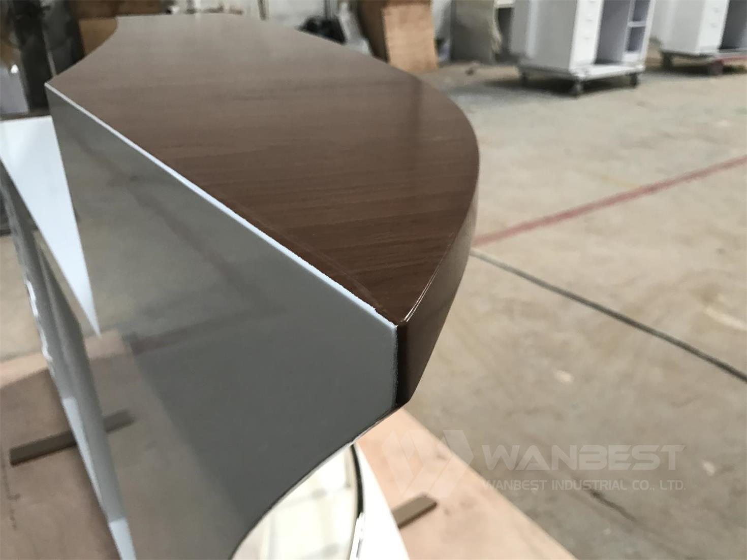 solid wood veneer bar counter