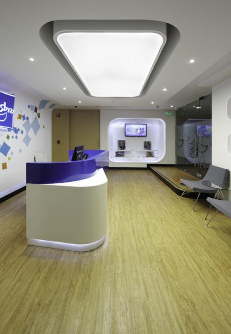 commercial furniture fitness center reception desk