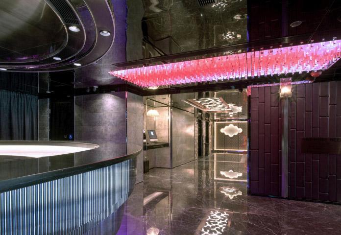 multi color RGB led light circular Bar counter