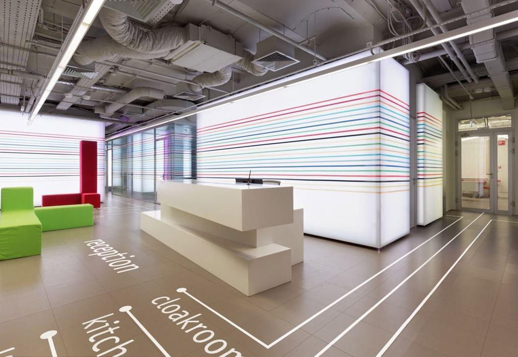 3 layer design modern hotel reception desk