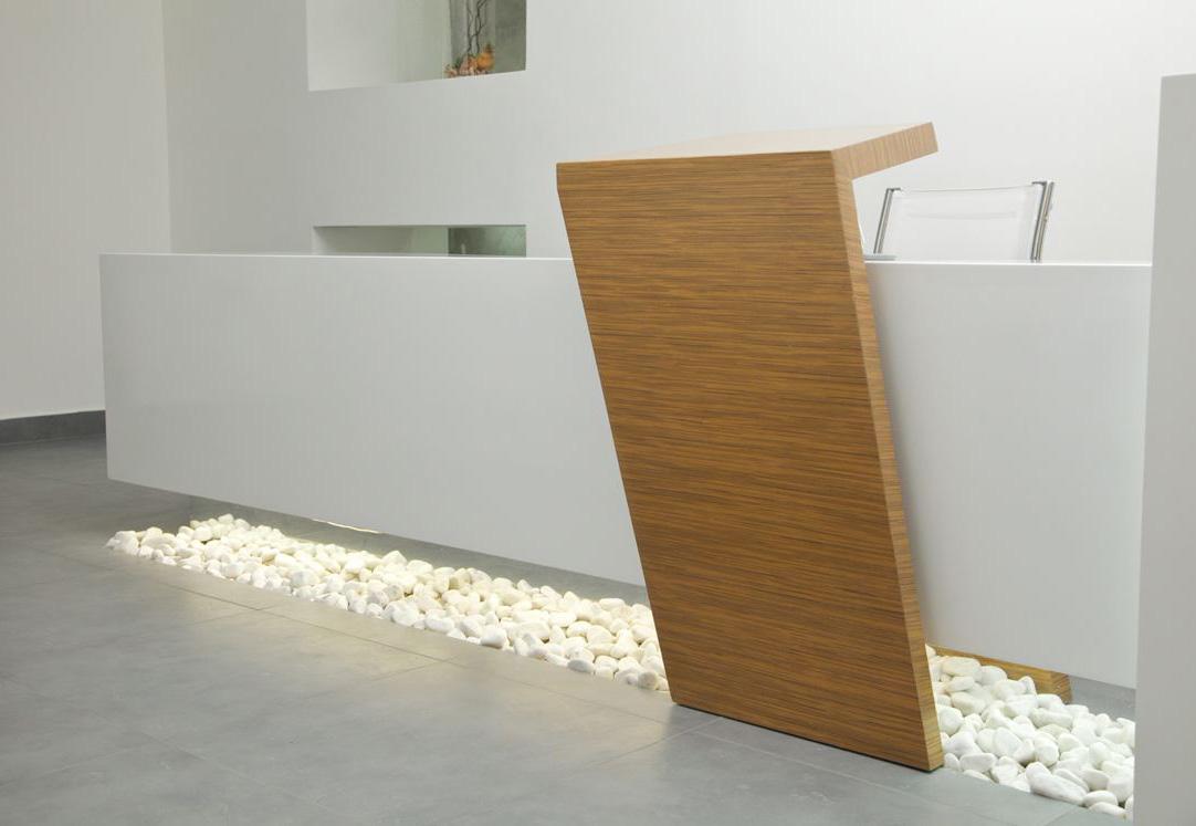 Contemporary I Shape Reception Desk With Decoration