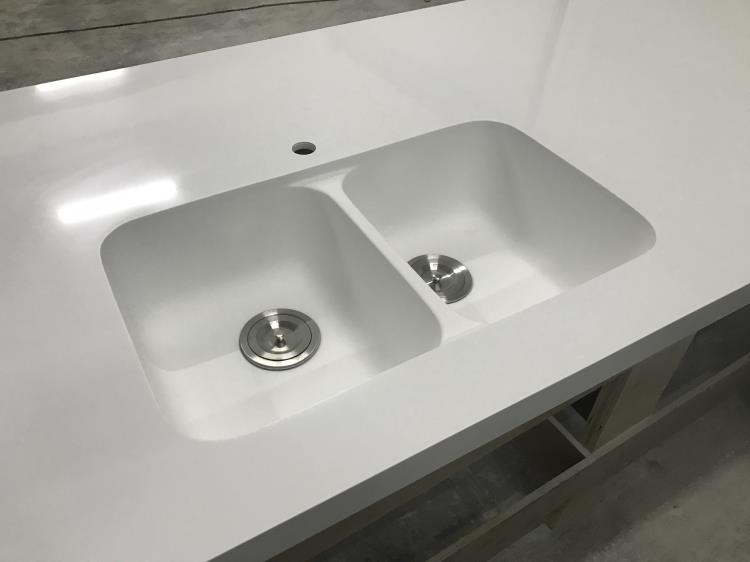 Glacier white corian countertops solid surface with sink Corian bathroom sinks and countertops