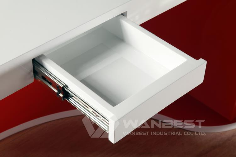 RED WHITE MANAGER DESK DRAWER for pen