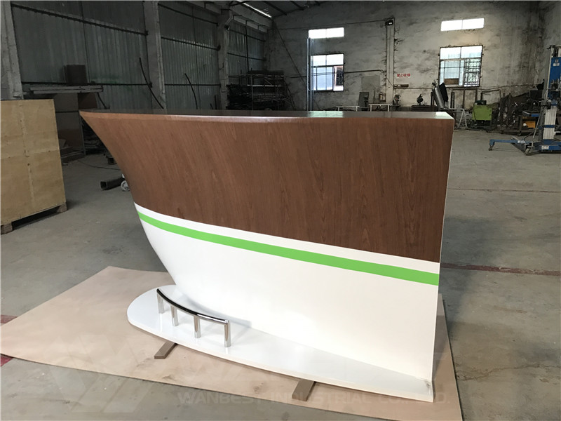 solid wood veneer boat shape bar counter weight