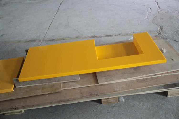 Yellow corian solid surface countertops custom size oem factory