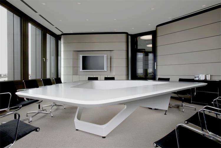 large many people meeting table