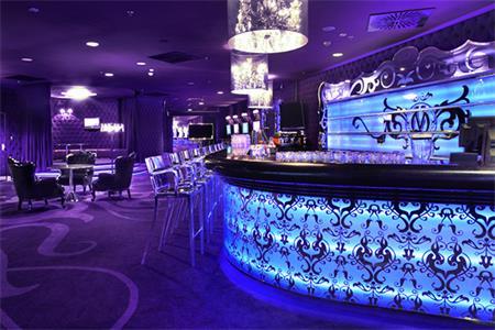 Popular Velvet Bar Counter Design Black Stone Top