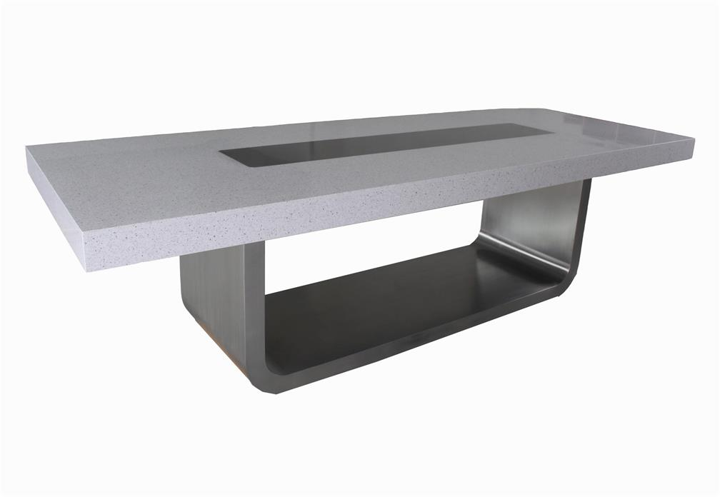 Modern Conference Table Stone Meeting Desk
