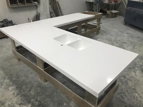 Wanbest corian solid surface countertop oem furniture for Solid surface counters