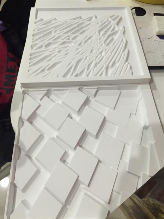 3/4'' thickness corian solid surface 3D grave