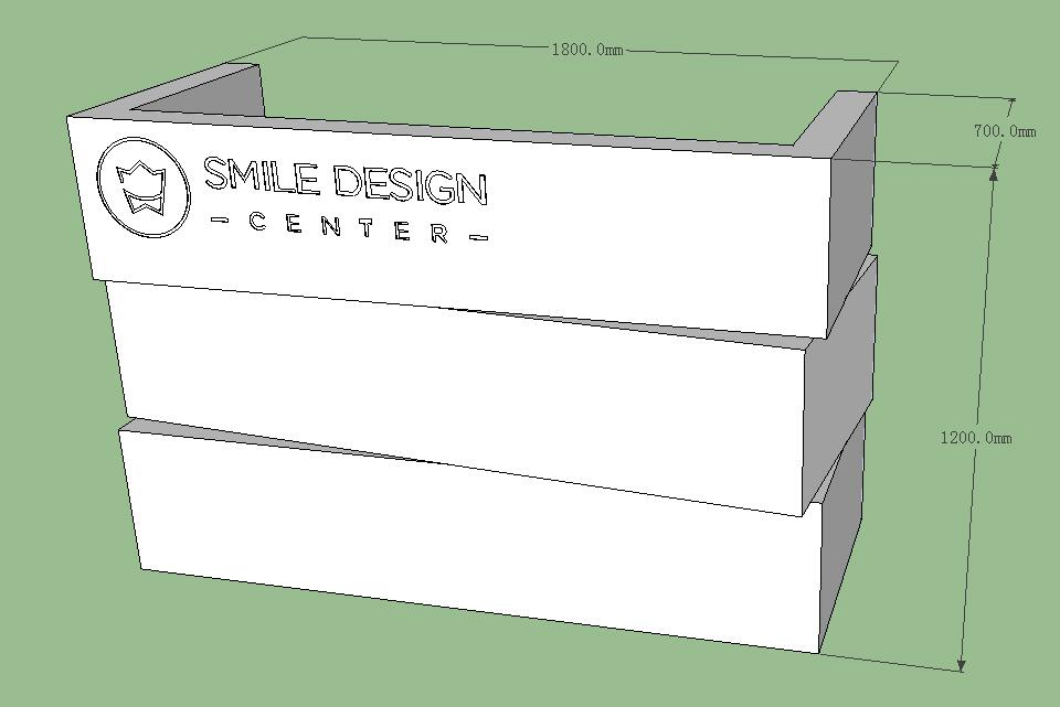 3d drawing of ODM reception desk