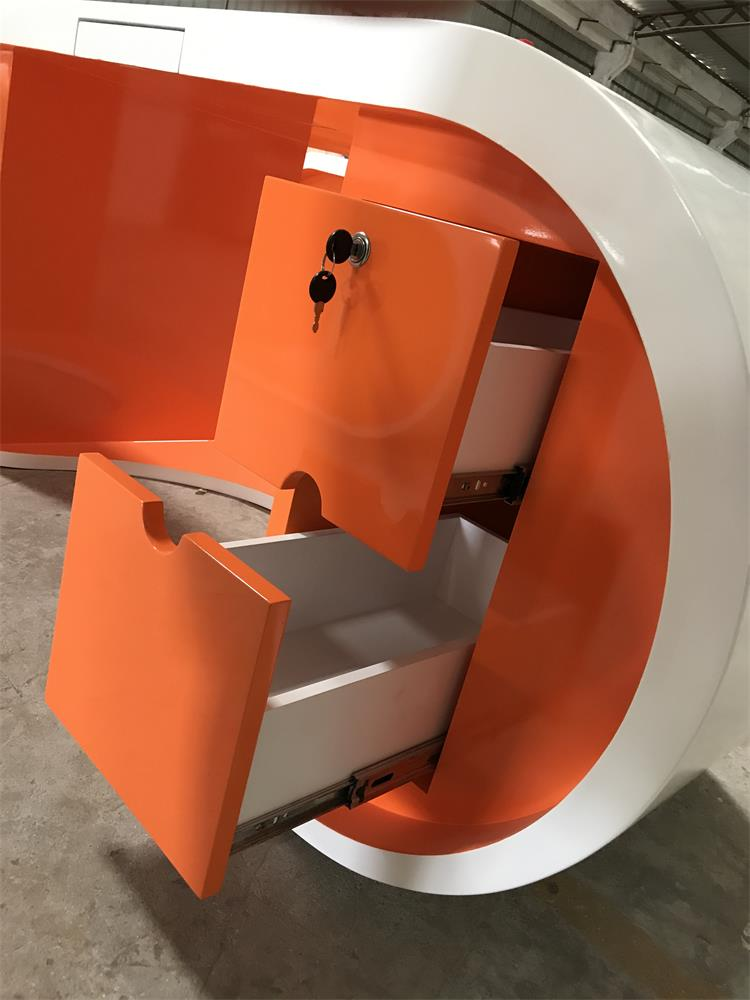 orange manager desk custom design
