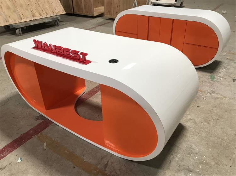 orange manager desk wanbest