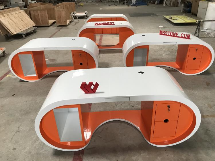orange manager desk 2 sets
