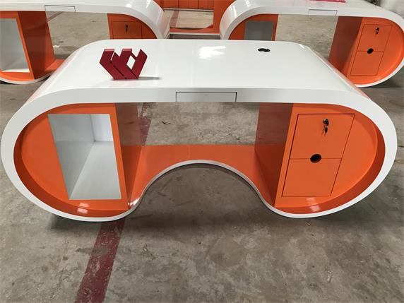orange white color custom design size manager staff desk