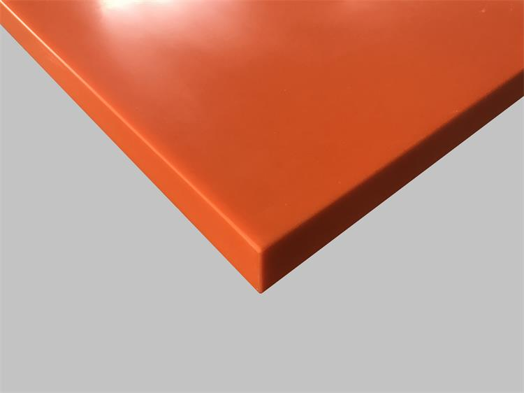 orange corian table top