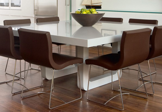 corian dining table set