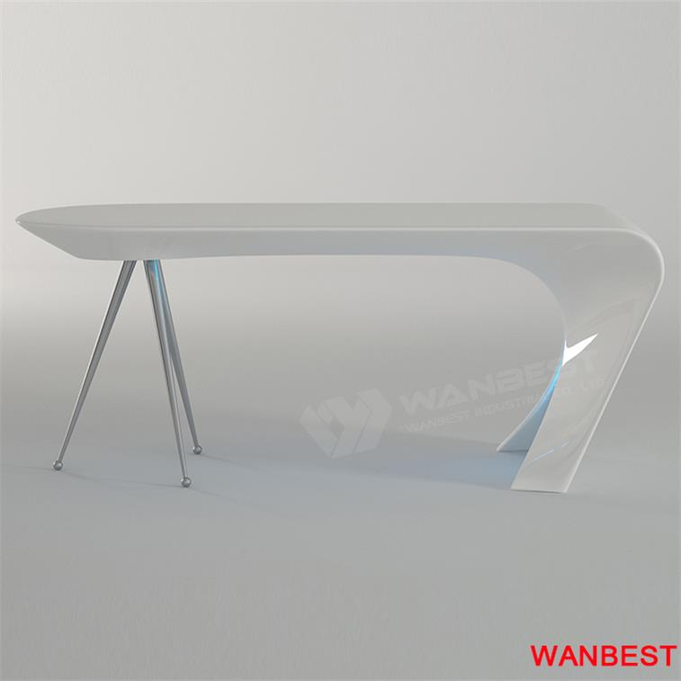 curved office furniture-white