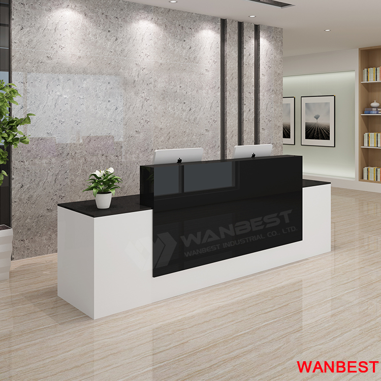 latest artificial stone modern beauty custom reception desk