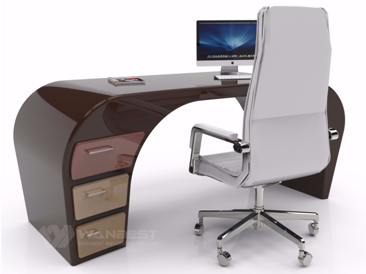 office desk brown