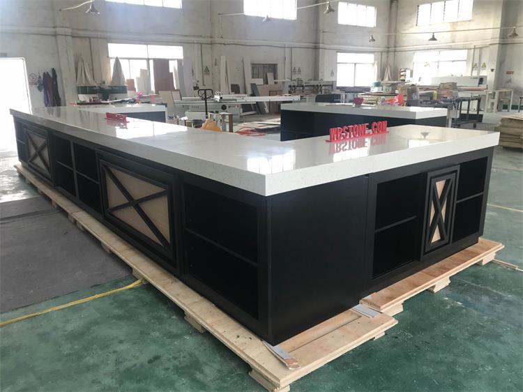 Buffet High Glossy Polished Modern Design Kitchen Counter